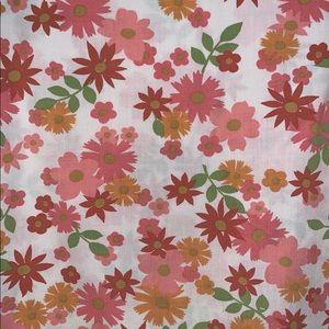 Vtg 70s Flower Power pillowcases & sheet